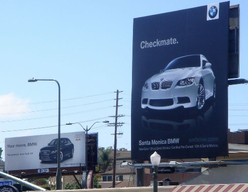 audi-bmw-ad-war-cali-billboard-checkmate-1
