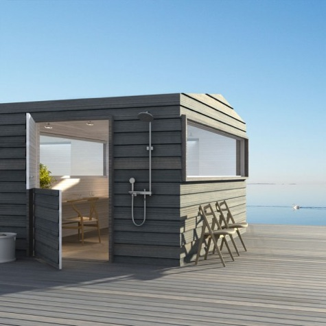 Beach houses by sommarn jen por homme contemporary men Small beach homes