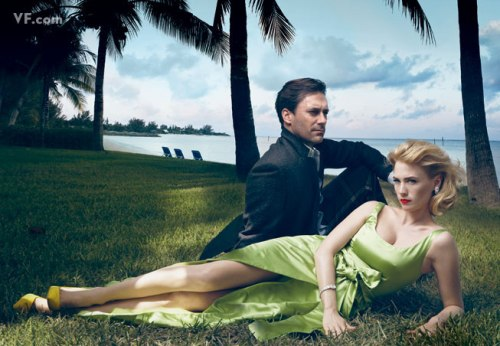 Mad Men: John Hamm + January Jones x Annie Leibovitz for Vanity Fair