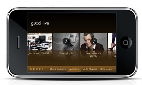 Gucci Delivers Music, Fashion, and Lifestyle with iPhone App