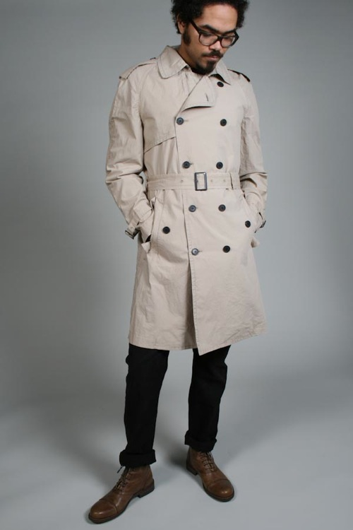 Fifth Avenue Shoe Repair Poplin Trench Coat Por Homme