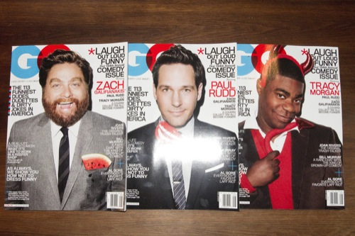 Galifianakis, Rudd, Morgan: Terry Richardson for GQ Funny Comedy Issue