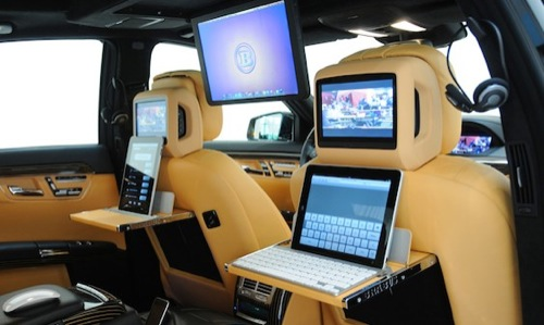 Mobile Office | Brabus iBusiness SV12 R for MBenz S 600 [iPads Included]