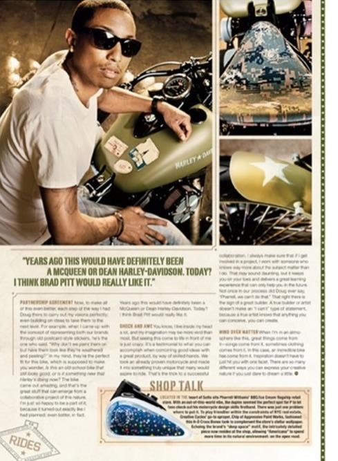 Americana: Pharrell for Creative Cycles [Harley-Davidson]