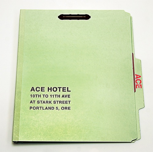 Design | Ace Hotel Press Kit by The Official Manufacturing Co.