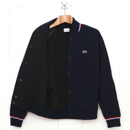 Lacoste Knitted Wool Baseball Jacket