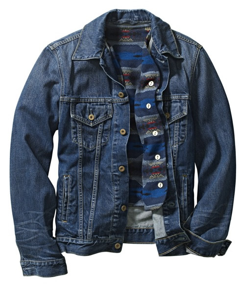 Levi's Workwear series by Pendleton Jacquared-lined Trucker Jacket
