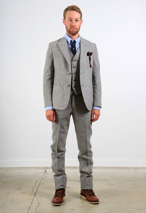 The Fall Suit | Band of Outsiders 3-Piece Tweed Tailored Suit