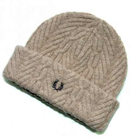 Winter Essential | Fred Perry Cable Knit Beanie