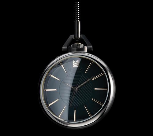 March LA.B 1805 Black Emerald Pocket Watch