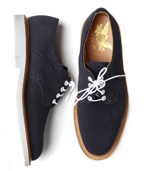 Mark Mcnairy White Sole Saddle Derby Shoe