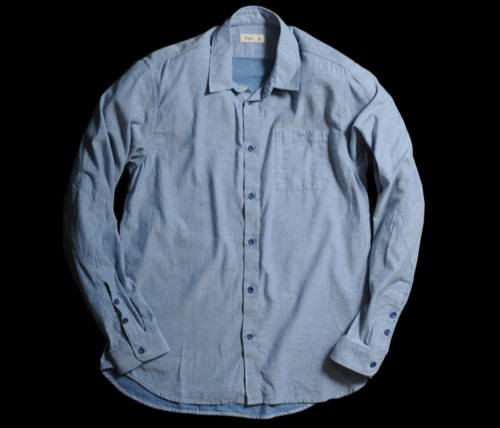 Folk Elbow Patch Flecky Shirt