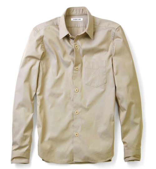 Helmut Lang Chambray Twill Button Down Shirt