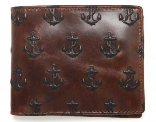 Jack Spade Embossed Anchor Wallet