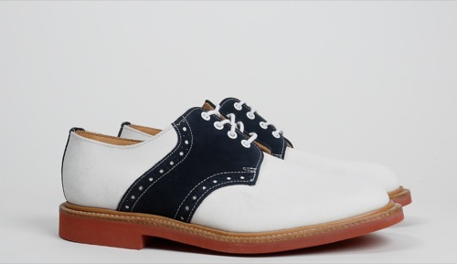 Mark McNairy Saddle Shoe in White
