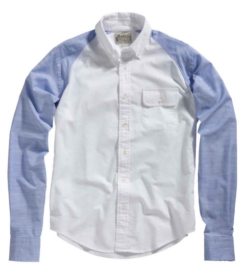 GANT Chambray Baseball Button Down Shirt