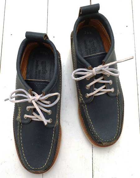 Yuketen Wax Flesh Blue Maine Guide Oxford Shoe