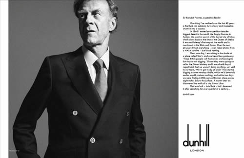 Dunhill Fall 2011 Voice Campaign in Print