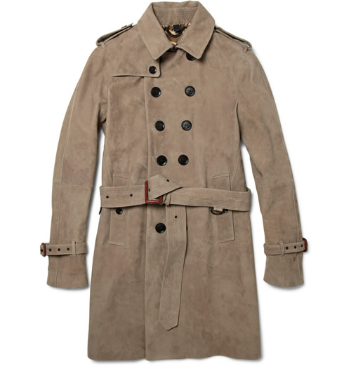 burberry prorsum suede trench coat for fall 2011. Black Bedroom Furniture Sets. Home Design Ideas