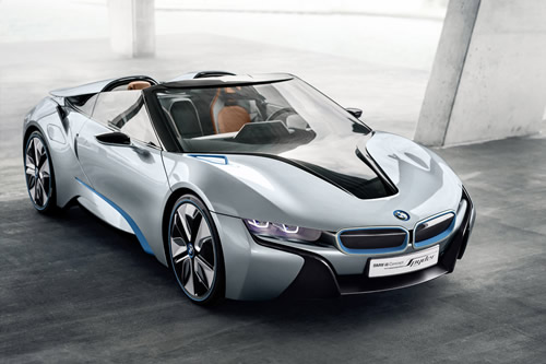 BMW i8 Spyder Concept Car - Hybrid Electric