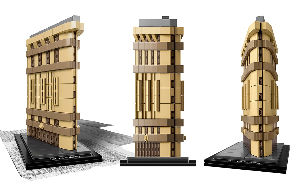lego architecture recreates new york's flatiron building - por